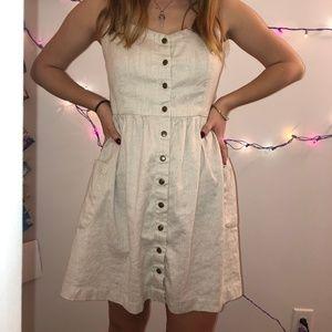 Button Canvas Dress